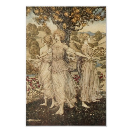 Maidens Around a Tree Poster
