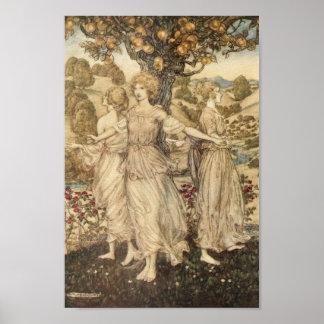 Maidens Around a Tree Print
