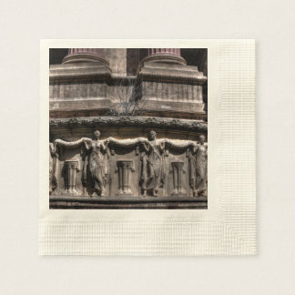 Maidens At The Pillar Coined Cocktail Napkin
