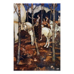 """""""Maidens on White Horses"""" by Edmund Dulac Poster"""