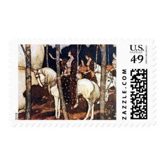 Maidens on White Horses Postage