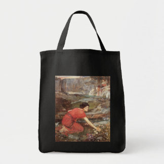 Maidens Picking Flowers by John William Waterhouse Tote Bags