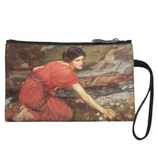 Maidens Picking Flowers by John William Waterhouse Wristlet Purses
