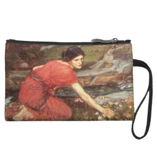 Maidens Picking Flowers by John William Waterhouse Wristlet Clutches