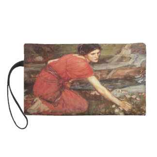 Maidens Picking Flowers by John William Waterhouse Wristlet Purse