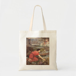 Maidens Picking Flowers by John William Waterhouse Tote Bag