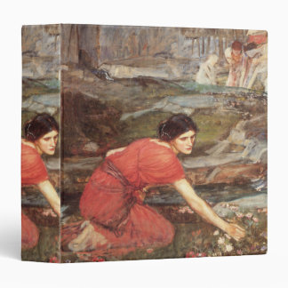 Maidens Picking Flowers by John William Waterhouse 3 Ring Binder