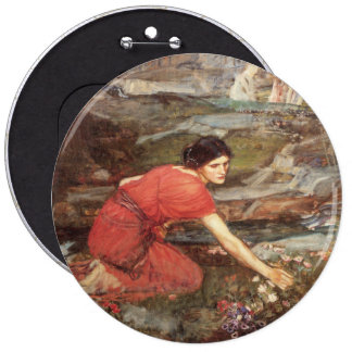 Maidens Picking Flowers by John William Waterhouse Button
