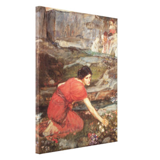 Maidens Picking Flowers by John William Waterhouse Canvas Print