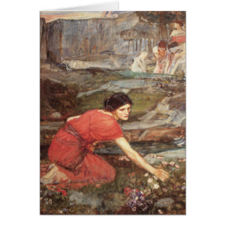 Maidens Picking Flowers by John William Waterhouse Card