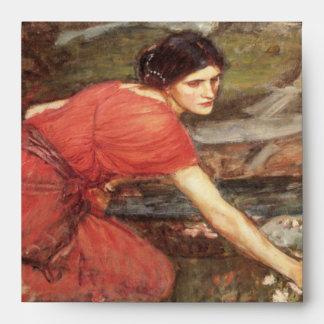 Maidens Picking Flowers by John William Waterhouse Envelope