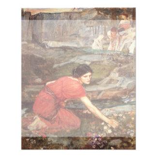 Maidens Picking Flowers by John William Waterhouse Custom Flyer