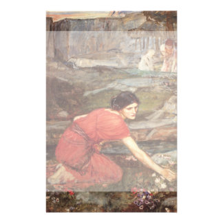 Maidens Picking Flowers by John William Waterhouse Personalized Flyer