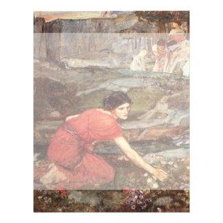 Maidens Picking Flowers by John William Waterhouse Flyer Design