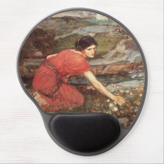 Maidens Picking Flowers by John William Waterhouse Gel Mouse Pad