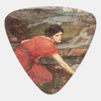 Maidens Picking Flowers by John William Waterhouse Guitar Pick