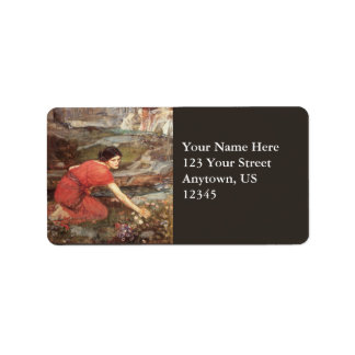 Maidens Picking Flowers by John William Waterhouse Address Label