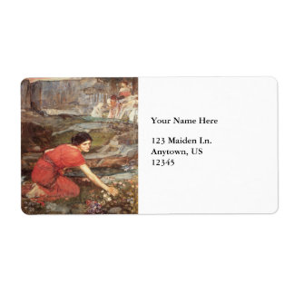 Maidens Picking Flowers by John William Waterhouse Shipping Label