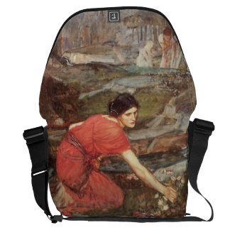 Maidens Picking Flowers by John William Waterhouse Courier Bags