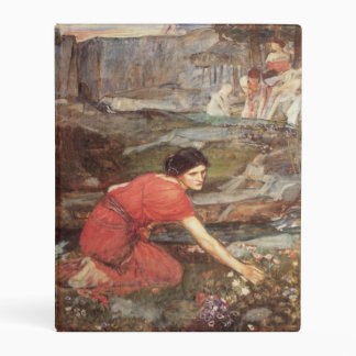 Maidens Picking Flowers by John William Waterhouse Mini Binder