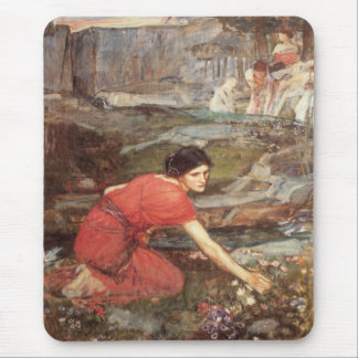 Maidens Picking Flowers by John William Waterhouse Mouse Pad