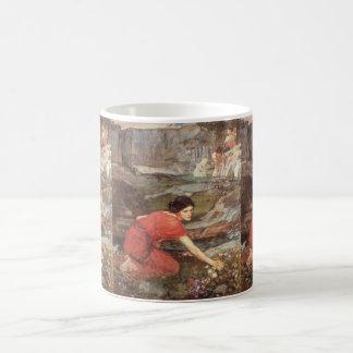 Maidens Picking Flowers by John William Waterhouse Classic White Coffee Mug