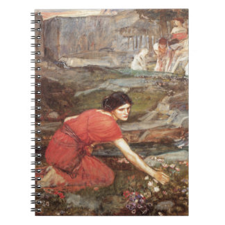 Maidens Picking Flowers by John William Waterhouse Notebook