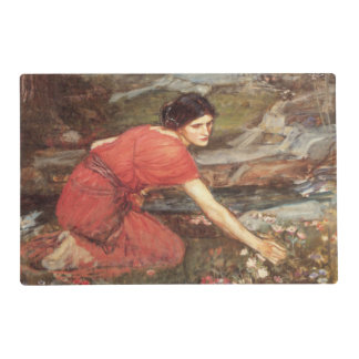 Maidens Picking Flowers by John William Waterhouse Laminated Placemat