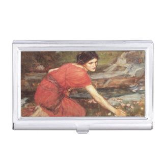 Maidens Picking Flowers by John William Waterhouse Case For Business Cards