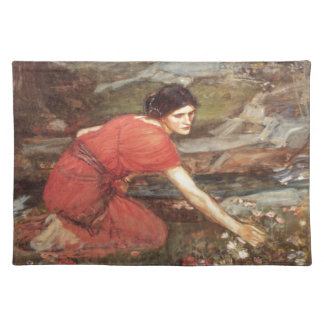 Maidens Picking Flowers by John William Waterhouse Placemat