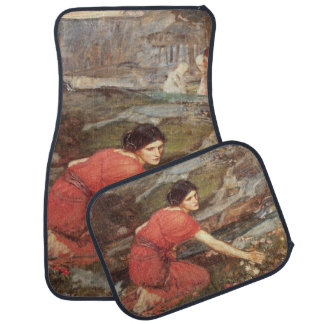 Maidens Picking Flowers by John William Waterhouse Car Mat