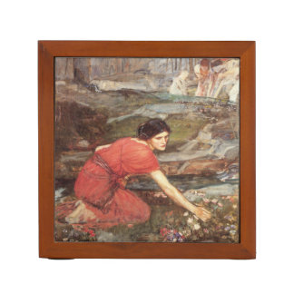 Maidens Picking Flowers by JW Waterhouse Pencil Holder