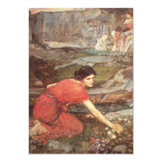 Maidens Picking Flowers Oil Painting Card