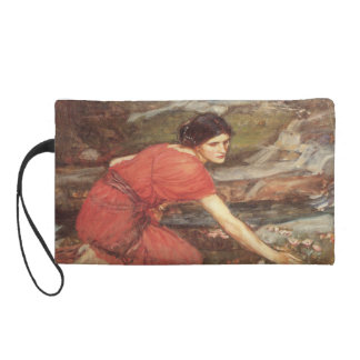 Maidens Picking Flowers Oil Painting Wristlet