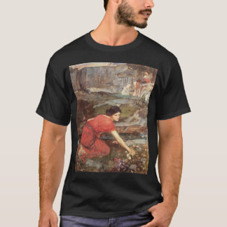 Maidens Picking Flowers Painting by Waterhouse T-Shirt