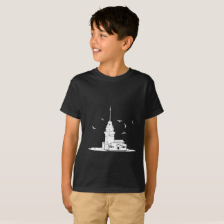Maiden's Tower Black T-Shirt for Kids