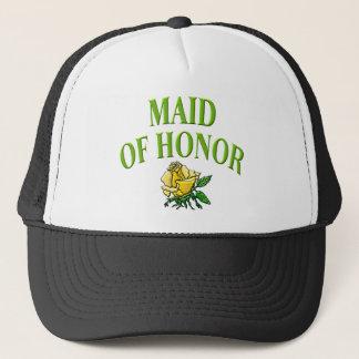 maidofhonor- rose trucker hat