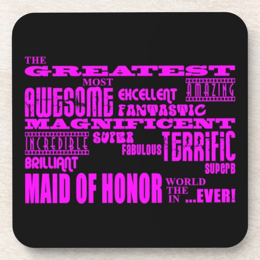 Maids of Honor Fun Gifts : Greatest Maid of Honor Drink Coasters