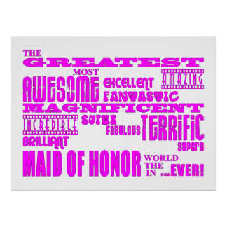 Maids of Honor Fun Gifts : Greatest Maid of Honor Print