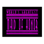 Maids of Honor Gift World's Greatest Maid of Honor Post Card