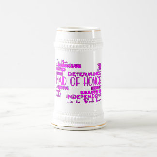 Maids of Honor Wedding Party Favors : Qualities Beer Stein