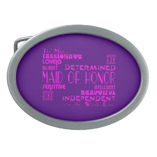 Maids of Honor Wedding Party Favors : Qualities Belt Buckle