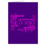 Maids of Honor Wedding Party Favors : Qualities Greeting Cards