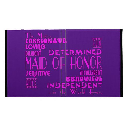 Maids of Honor Wedding Party Favors : Qualities iPad Cases