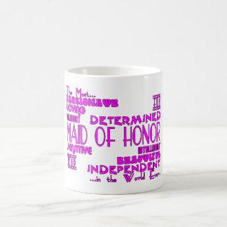 Maids of Honor Wedding Party Favors : Qualities Coffee Mug