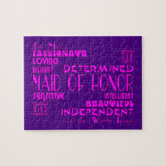 Maids of Honor Wedding Party Favors : Qualities Puzzle