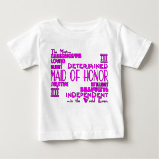 Maids of Honor Wedding Party Favors : Qualities T Shirt