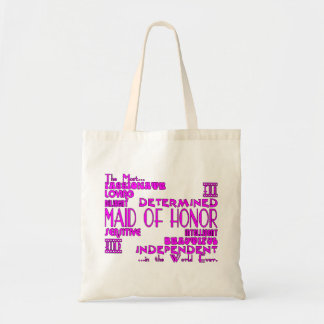 Maids of Honor Wedding Party Favors : Qualities Tote Bag