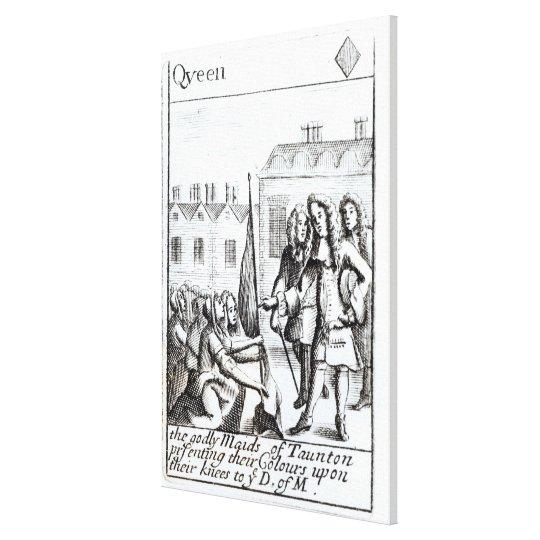 Maids of Taunton Kneeling before Duke of Canvas Print