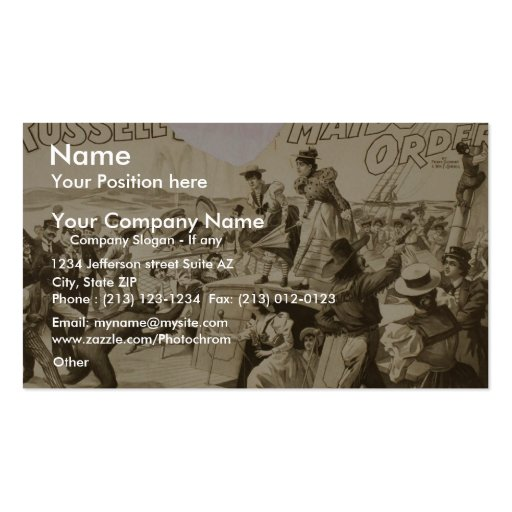 Maids to Order, by 'Russell Bro' Vintage Theater Business Card
